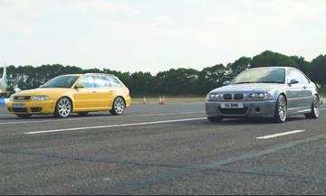 Κόντρα θρύλων: Audi RS4 VS BMW M3 CSL (vid)