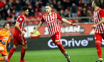 Δεύτερο γκολ ο Φορτούνης και Ολυμπιακός-ΑΕΛ 3-0 (vid)