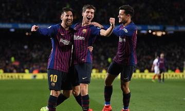 Copa Del Rey: «Εξάσφαιρη» Μπαρτσελόνα ισοπέδωσε τη Σεβίλλη (vid)