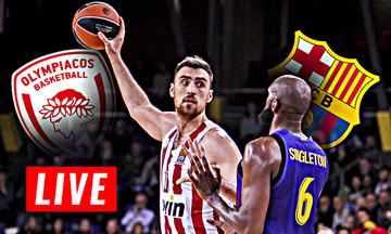 LIVE: Ολυμπιακός - Μπαρτσελόνα (21:00)