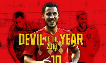 Κορυφαίος Βέλγος ποδοσφαιριστής ο Εντέν Αζάρ για το 2018!