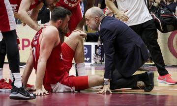 Ήφαιστος Λήμνου - Ολυμπιακός: Ο τραυματισμός του Μιλουτίνοφ (vid)