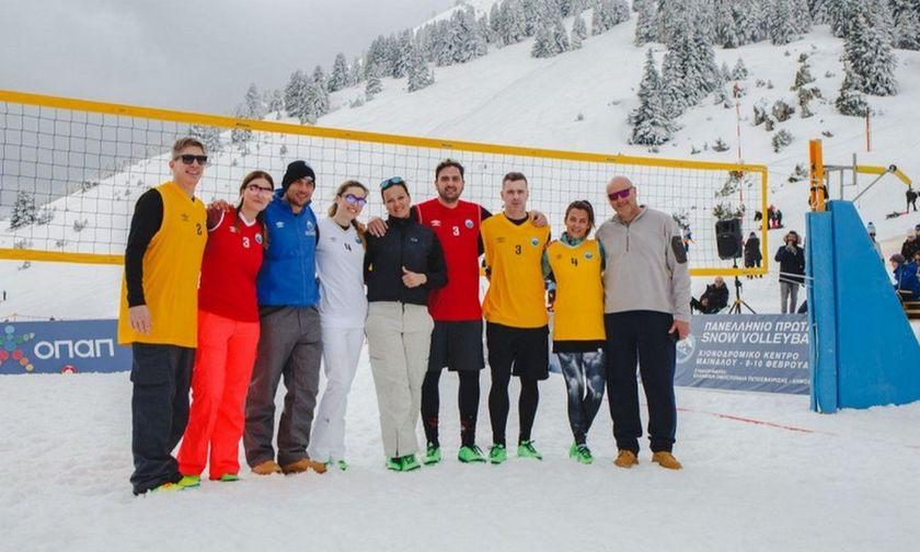 Snow Volley: Με οδηγό την Καραντάσιου έλαμψαν τα αστέρια στο Μαίναλο (pic)