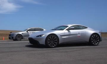 H BMW M5 «καταστρέφει» την Aston Martin Vantage (vid)