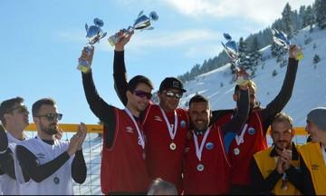 Snow Volley: Χιονοστιβάδα θεάματος στον Μαίναλο (vid)