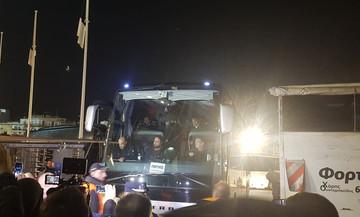 Η αποχώρηση του Ολυμπιακού από το γήπεδο της Τούμπας (pic & vid)