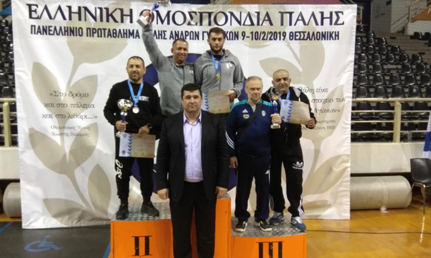 Πρωταθλητές Ελλάδας στην Πάλη η Ευκαρπία και ο Ήφαιστος Βαθυλάκου
