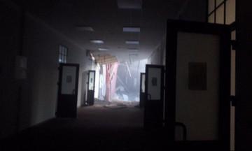 Ο τοίχος σκίζεται- Η στιγμή της κατάρρευσης στο Πανεπιστήμιο της Αγίας Πετρούπολης (vid)