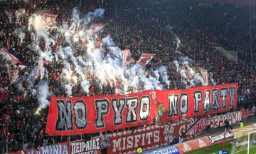 Ολυμπιακός-ΑΕΚ: No Pyro No Party και η νύχτα μέρα στο «Καραϊσκάκης»