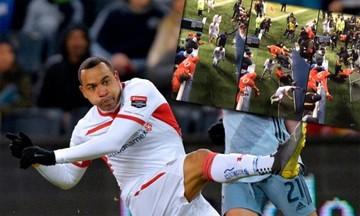 Τραυματισμός σοκ για Πάρντο -Έπεσε επάνω του κιγκλίδωμα -Δείτε τον σε αναπηρικό αμαξίδιο (vid-pic)