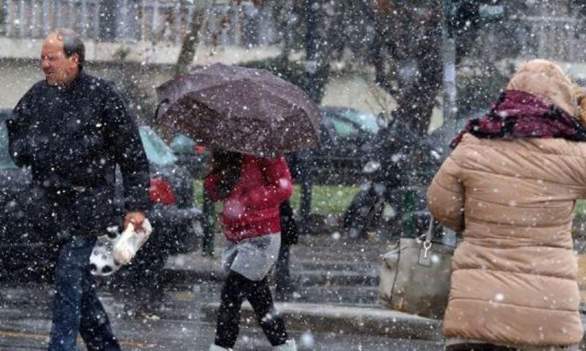 Βροχές και παγετός σήμερα -Ανεμοι έως 8 μποφόρ