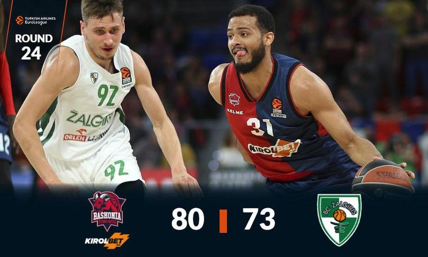 Η Μπασκόνια νίκησε 80-73 τη Ζαλγκίρις (vid)