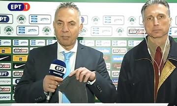 Ο Μίνος διαφήμισε on air στην «Αθλητική Κυριακή» το σκουφάκι του Λουτσέσκου (vid)
