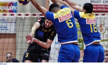 Volleyleague: Νίκη με ανατροπή για τον Παμβοχαϊκό επί της ΑΕΚ (3-2)