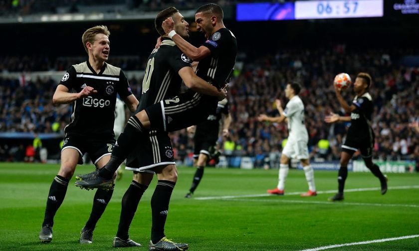 Total Football στη Μαδρίτη. Ο Αγιαξ διέλυσε 4-1 τη Ρεάλ (highlights)