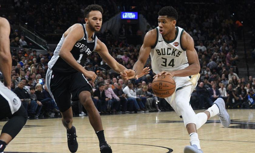 NBA: Ήττα για τους Μπάκς στο Σαν Άντονιο, νίκη-έκπληξη των Σανς επί των Ουόριορς (vids)