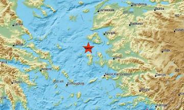 Σεισμός νοτιοδυτικά της Μυτιλήνης