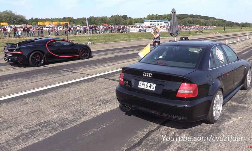 Audi S4 τα βάζει με Bugatti Chiron! (vid)