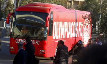 Η άφιξη του Ολυμπιακού στο ΟΑΚΑ (vid)