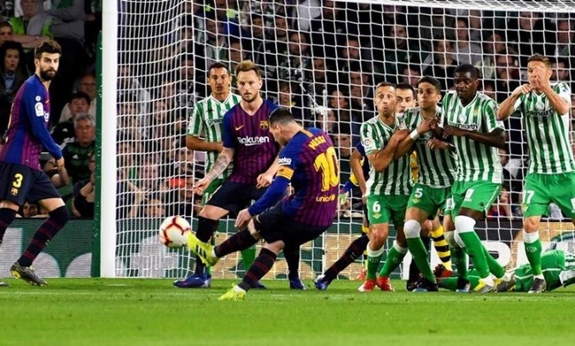 La Liga: Χατ-τρικ ο Μέσι και «τεσσάρα» της Μπαρτσελόνα στη Μπέτις (highlights)