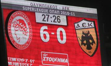 Πριν 8 χρόνια το πάρτι τίτλου με την ΑΕΚ (6-0)