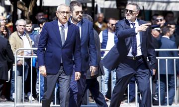 Σάββας Θεοδωρίδης, Σταυρόπουλος και Μπαφές στην κηδεία του Θανάση Γιαννακόπουλου (pics)