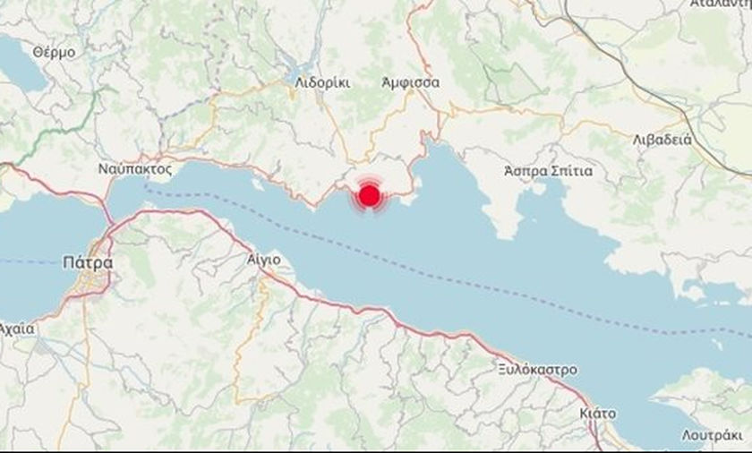 Νεότερα για τον σεισμό στον Κορινθιακό Κόλπο, πολύ κοντά στο Γαλαξίδι