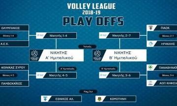 Volley League Ανδρών: Το πρόγραμμα και οι διαιτητές των αγώνων πλέι οφ και πλέι άουτ (9-10/4)