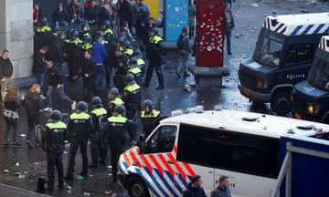 «Πόλεμος» στο Άμστερνταμ με οπαδούς Άγιαξ, Γιουβέντους (pics, vids)
