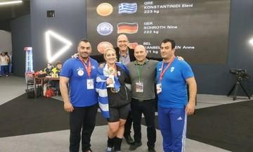 Πρωταθλήτρια Ευρώπης στην άρση βαρών η Κωνσταντινίδη