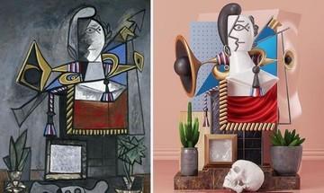 Μετατρέπει τους πίνακες του Πικάσο σε 3D γλυπτά (Video)