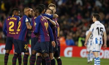 La Liga: Επιστροφή στα τρίποντα η Μπαρτσελόνα, 2-1 τη Ρεάλ Σοσιεδάδ (highlights)