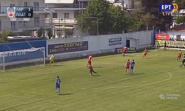 Live Streaming: Απόλλων Λάρισας - Πλατανιάς 1-0