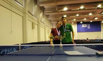 Πινγκ Πονγκ: Πρωταθλητές Nέων οι Παπαδημητρίου και Χατζηλυγερούδης