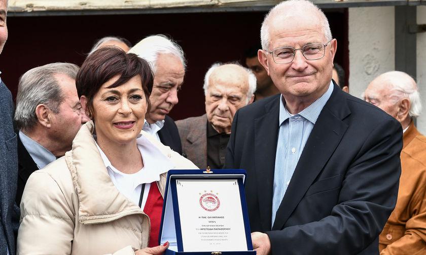 Ελένη Παπάζογλου: «Μας τιμάει η πρωτοβουλία των βετεράνων του Ολυμπιακού»