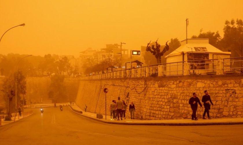 9290791dec8 Καιρός: Η αφρικανική σκόνη θα «σκέπασει» τη χώρα και σήμερα -Πού θα ...