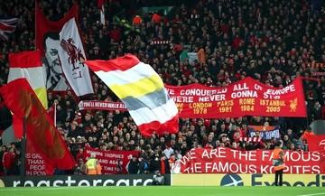 Λίβερπουλ - Μπαρτσελόνα: Το πανό των «κόκκινων» με τα 5 ευρωπαϊκά τρόπαια! (vid)