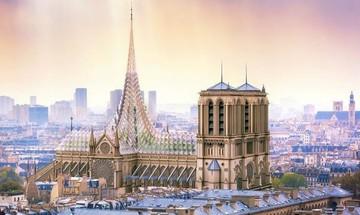 Η εντυπωσιακή πρόταση για την καμμένη οροφή της Παναγιάς των Παρισίων (pics)