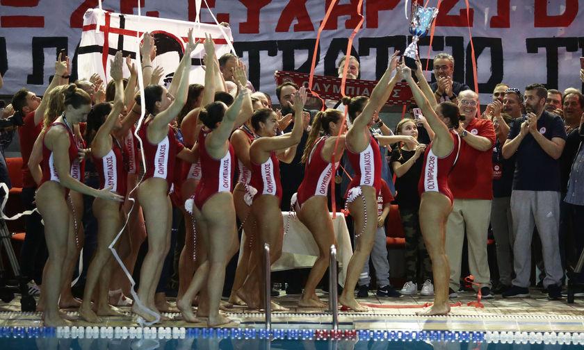 Ολυμπιακός - Βουλιαγμένη 7-5: Η απονομή και το πάρτι στην πισίνα (pics)
