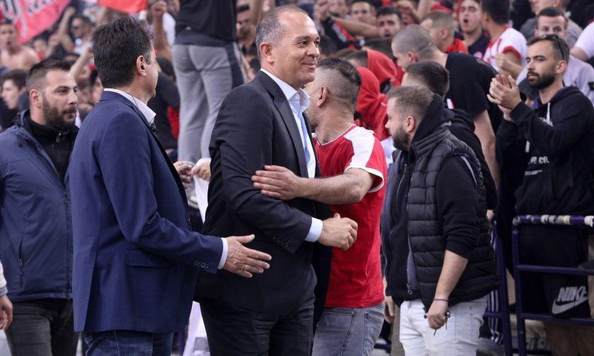Αγγελόπουλος στο συνέδριο της Θύρας 7: Δεν κατεβαίνει ο Ολυμπιακός στο ΟΑΚΑ
