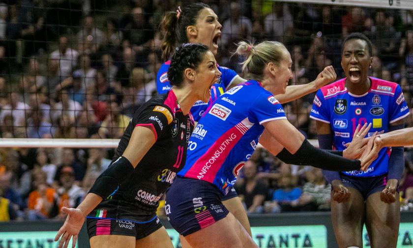 Champions League Volley γυναικών: Πρωταθλήτρια η Νovara(vid)