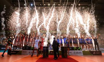 Tελικοί Τσάμπιονς Λιγκ  βόλεϊ ανδρών-γυναικών: MVP Eγκονού και Χουαντορένα, οι απονομές(vid)