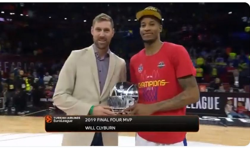 EuroLeague Final Four 2019 - MVP του Final Four ο Κλάιμπερν (vid)