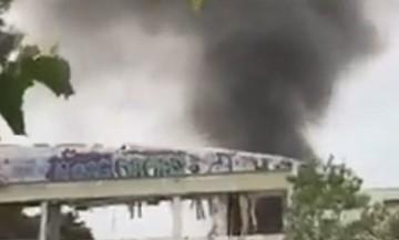Φωτιά στο κλειστό γήπεδο του Πανιωνίου (vids)