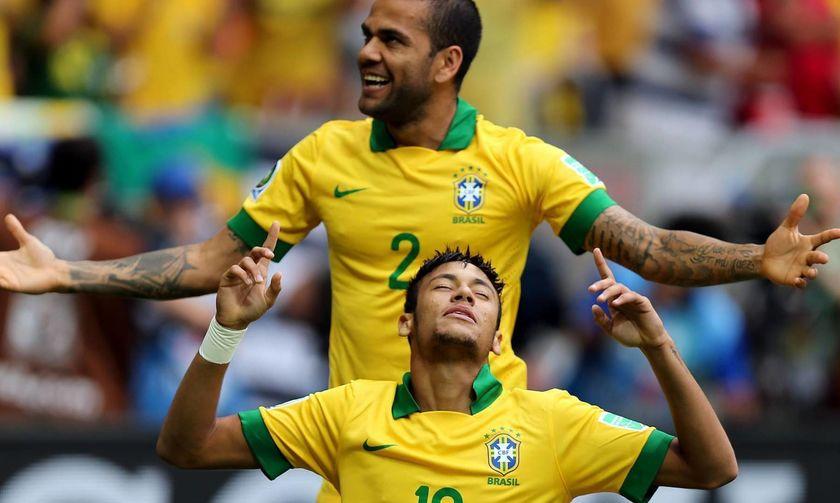 Βραζιλία: Ο Νειμάρ χάνει το περιβραχιόνιο, νέος αρχηγός ο Ντάνι Άλβες