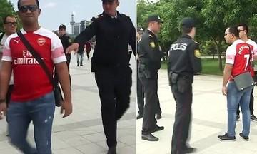 Η Αστυνομία σταμάτησε οπαδούς της Άρσεναλ επειδή φορούσαν μπλούζες του Μικιταριάν (vid)