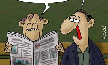 Ευρηματικό σκίτσο του Αρκά για τις εκλογές του Ιουλίου