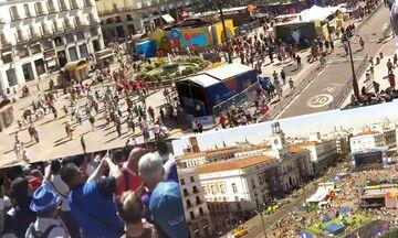 Τελικός Champions League: Τώρα στη Μαδρίτη - Ζωντανή εικόνα από την πόλη του τελικού