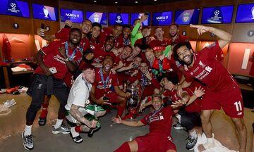 Τελικός Champions League: Οι πανηγυρισμοί στα αποδυτήρια της Λίβερπουλ (vid)