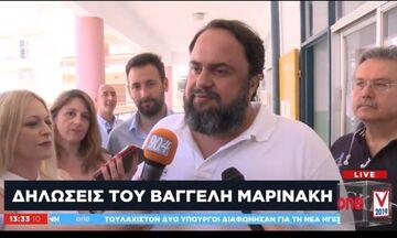 Εκλογές 2019: Ψήφισε ο Βαγγέλης Μαρινάκης (vid)